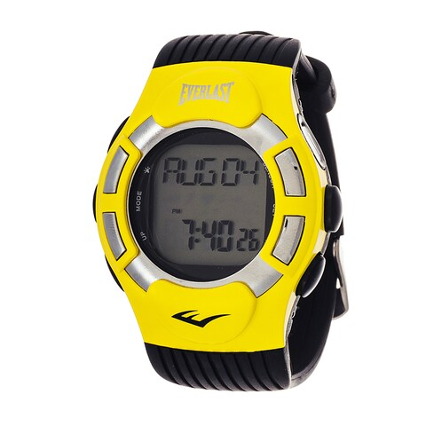 Everlast HR1 Finger Touch Heart Rate Monitor Yellow Bezel Sport Digital Watch