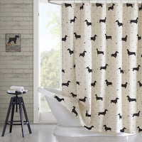 Carbon Loft Cardano Cotton Printed Shower Curtain