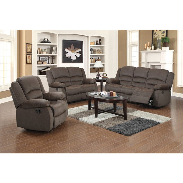 Dallas 3 Piece Fabric Reclining Sofa Set
