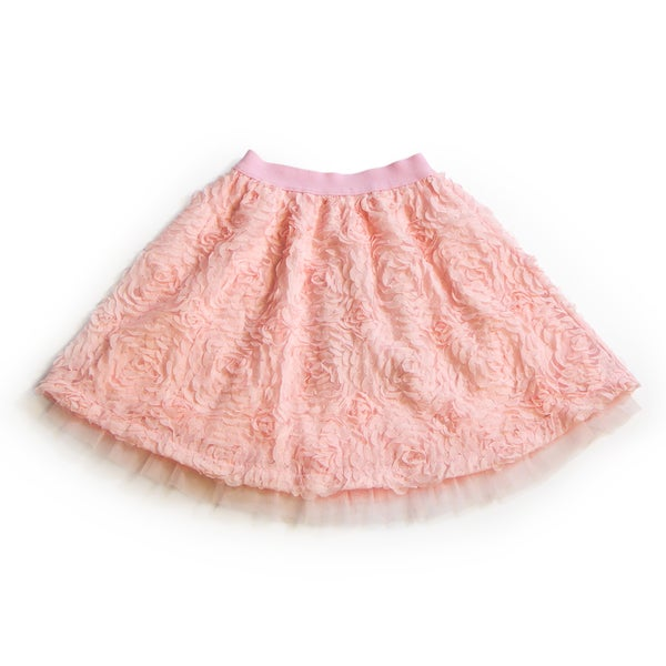 5d1c4ff3e5612 Girls' Soft Pink Rosette Tulle Skirt