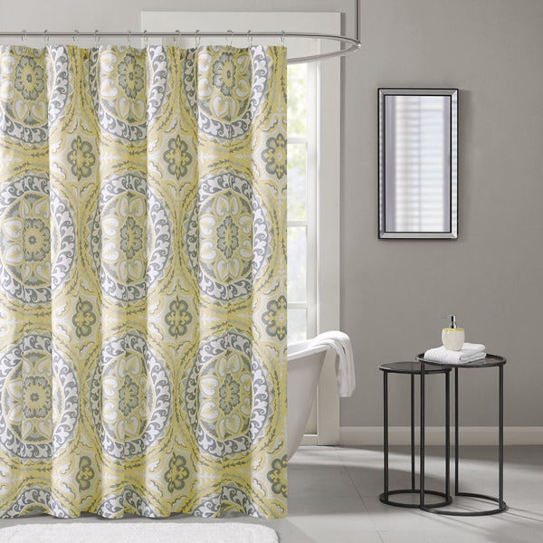 The Curated Nomad Lyon Printed Medallion Shower Curtain