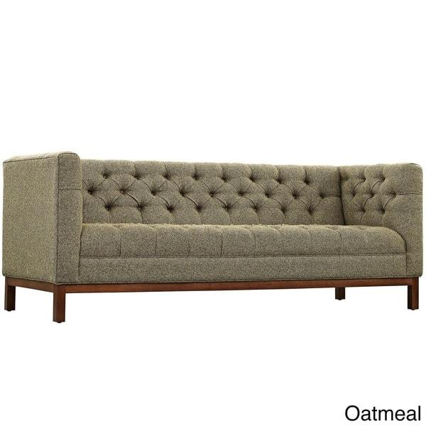 Pleasant Shop Carson Carrington Holar Tufted Fabric Sofa With Clean Theyellowbook Wood Chair Design Ideas Theyellowbookinfo