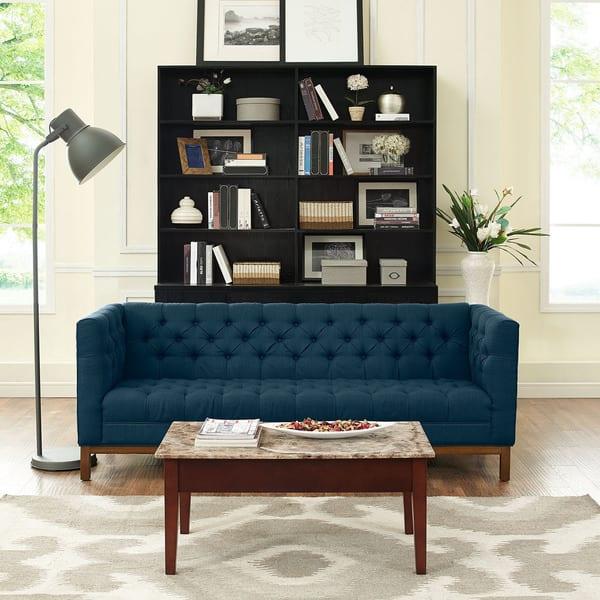 Amazing Shop Carson Carrington Holar Tufted Fabric Sofa With Clean Theyellowbook Wood Chair Design Ideas Theyellowbookinfo