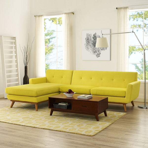 Engage Mid Century Modern Tufted Sectional Free Shipping