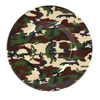 "Red Vanilla Freshness Camo USA Salad Plate 9"" (Set of 4)"