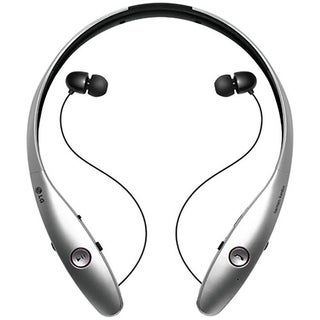 LG TONE INFINIM Bluetooth Stereo Headset - Retail Packaging - Silver