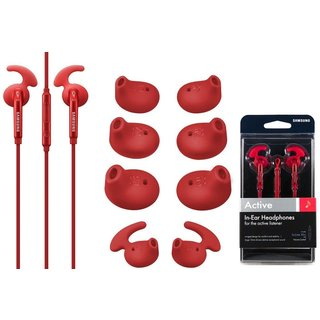 Samsung Active In-Ear Headset - Retail Packing - Red