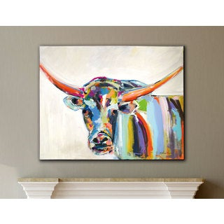 Melissa Lyons's Long Horn, Gallery Wrapped Canvas