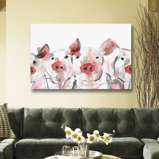 Melissa Lyons's pigs, Gallery Wrapped Canvas