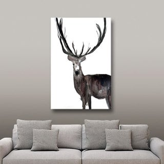 Melissa Lyons's Deer No Words, Gallery Wrapped Canvas