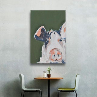 Melissa Lyons's Pig Selfie, Gallery Wrapped Canvas