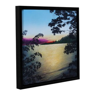 ArtWall Herb Dickinson's St. Lawrence river, Gallery Wrapped Floater-framed Canvas