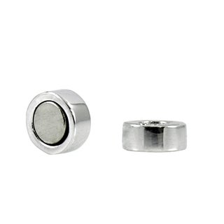 Sterling Silver Rhodium Electroplated Magnetic Earring Backs
