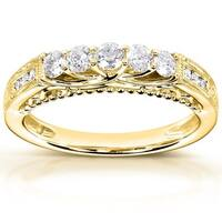 Annello by Kobelli 14k Yellow Gold 1/2ct TDW Round-cut Diamond Band