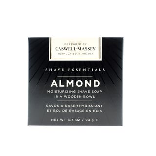 Caswell-Massey Almond Moisturizing 3.3-ounce Shave Soap in a Wooden Bowl