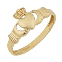 Fremada 14k Yellow Gold High Polish Claddagh Ring