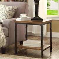 Carbon Loft Julia Industrial Veneer End Table