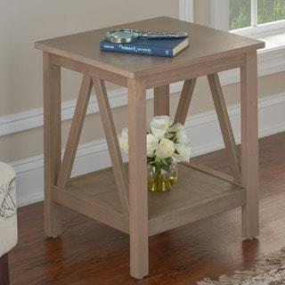 Linon Elaine End Table - Grey