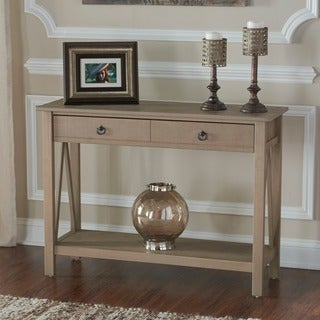 Linon Elaine Console Table - Driftwood