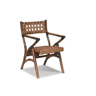 Hines Rustic Brown Distressed Chair