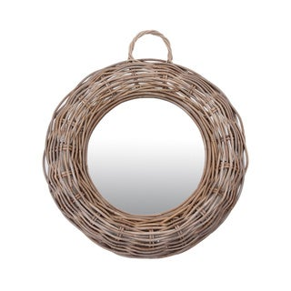 James Rattan Round Mirror-Medium