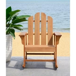 Safavieh Outdoor Living Moreno Teak Brown Rocking Chair