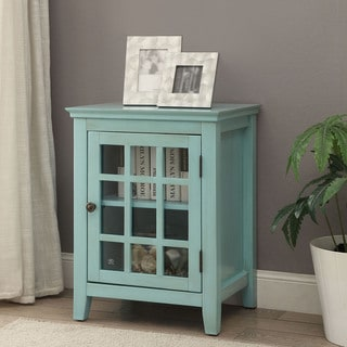 Linon Galway Accent Table - Turquoise