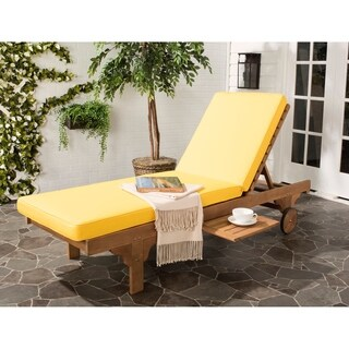 Safavieh Outdoor Living Newport Sliding Tray Adjustable Chaise Lounge Chair