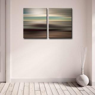 Ready2HangArt 'Blur Stripes XLI' 2-PC Canvas Wall Art Set
