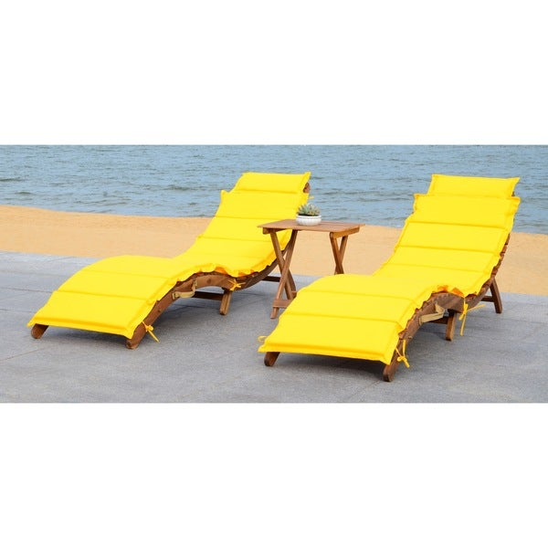 a566bcd7114 Shop Safavieh Outdoor Living Pacifica Brown  Yellow Piece Lounge Set ...