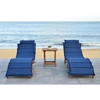 Safavieh Outdoor Living Pacifica Brown/ Navy Piece Lounge Set