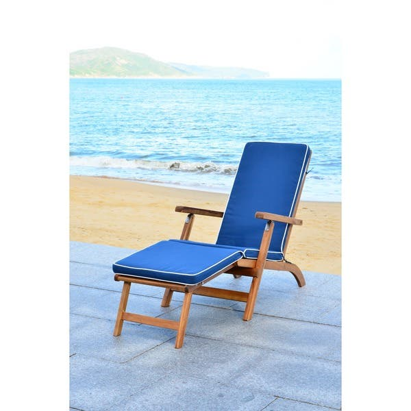 Peachy Shop Safavieh Outdoor Living Palmdale Brown Navy Lounge Ocoug Best Dining Table And Chair Ideas Images Ocougorg