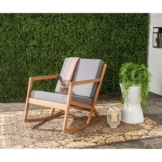 Safavieh Outdoor Living Vernon Brown/ Tan Rocking Chair