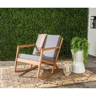 Link to Safavieh Outdoor Living Vernon Brown/ Tan Rocking Chair Similar Items in Accent Chairs
