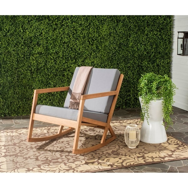 Safavieh Outdoor Living Vernon Brown/ Tan Rocking Chair. Opens flyout.