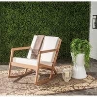 Safavieh Outdoor Living Vernon Brown/ Beige Rocking Chair
