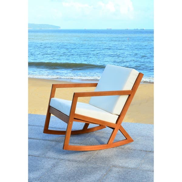 Groovy Shop Safavieh Outdoor Living Vernon Brown Beige Rocking Pabps2019 Chair Design Images Pabps2019Com