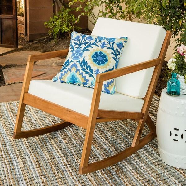 Safavieh Outdoor Living Vernon Brown Beige Rocking Chair