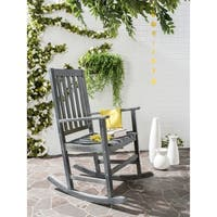 Safavieh Outdoor Living Barstow Ash Grey Rocking Chair