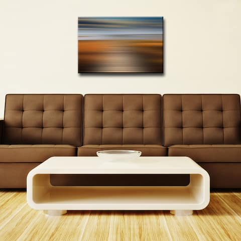 Blur Stripes XXIV' Abstract Wrapped Canvas Wall Art