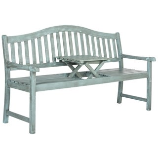 Safavieh Outdoor Living Mischa Beach House Blue Bench