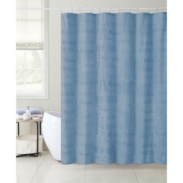 VCNY Mystic Locale Cities 13 Piece Shower Curtain Set