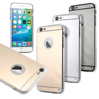 Gearonic Luxury Aluminum thin Mirror Metal Case Cover for iPhone 6 6S