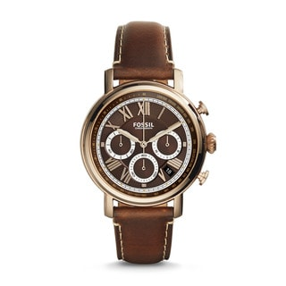 Fossil Men's FS5116 Buchanan Chronograph Brown Dial Brown Leather Watch