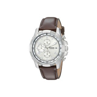 Fossil Men's FS5114 Dean Chronograph Beige Dial Brown Leather Watch