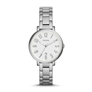 Fossil Women's ES3969 Jacqueline Silver Dial Stainless Steel Bracelet Watch