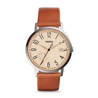 Fossil Women's ES3958 Vintage Muse Silver Dial Brown Leather Watch