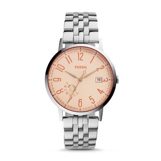 Fossil Women's ES3957 Vintage Muse Multi-Function Silver Dial Stainless Steel Bracelet Watch