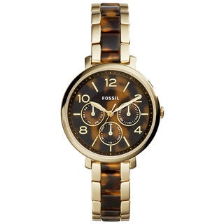 Fossil Women's ES3925 Jacqueline Multi-Function Tortoise Dial Two-Tone Bracelet Watch