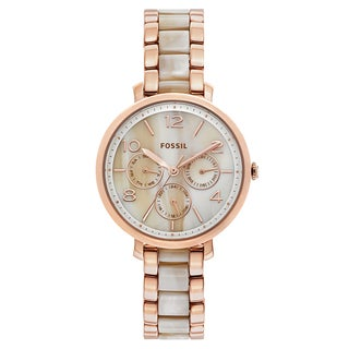 Fossil Women's ES3921 Jacqueline Multi-Function Beige Dial Two-Tone Bracelet Watch